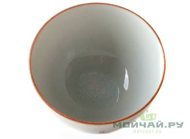 Cup # 25035 ceramic hand painting wood firing 70 ml