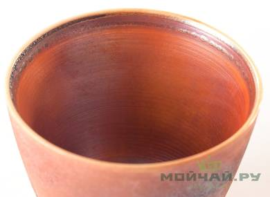 Cup # 24998 ceramic hand painting wood firing 85 ml