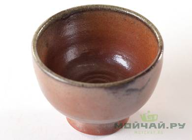 Cup # 24989 ceramic hand painting wood firing 75 ml