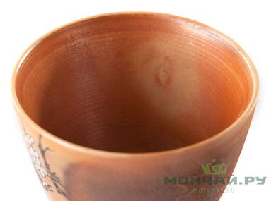 Cup # 24994 ceramic hand painting wood firing 80 ml
