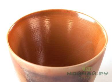 Cup # 25006 ceramic hand painting wood firing 80 ml