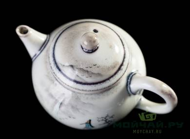 Teapot # 25093 hand painting porcelain 140 ml