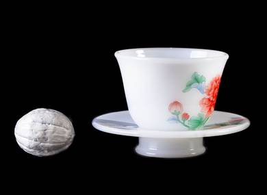 Cup with stand # 25278 porcelain hand painting 75 ml