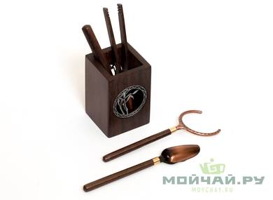 Set of accessories for a tea ceremony # 28395 woodmetal